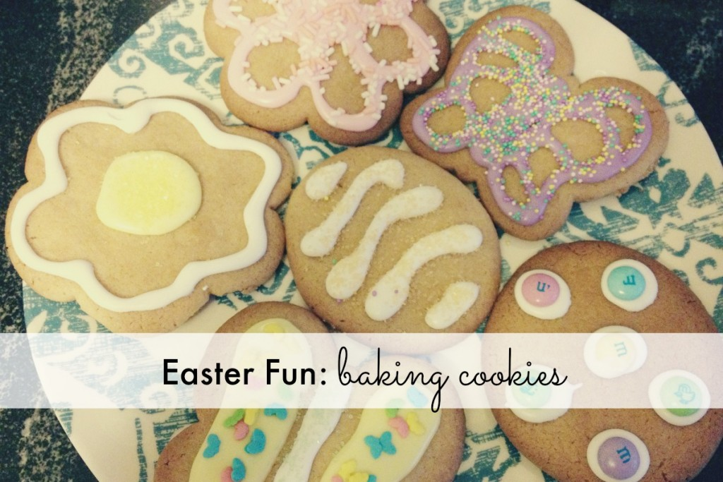 Easter Fun Baking Cookies