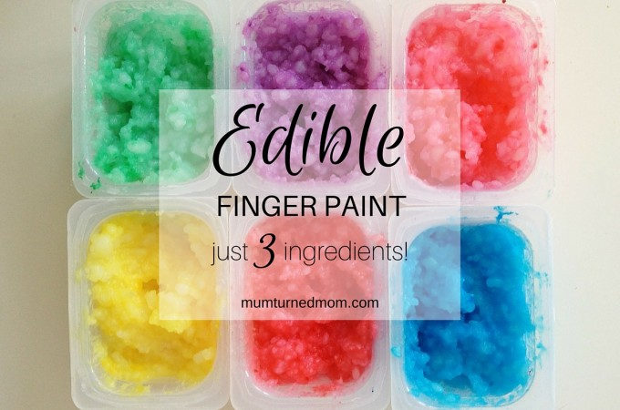 Mess: edible finger paint