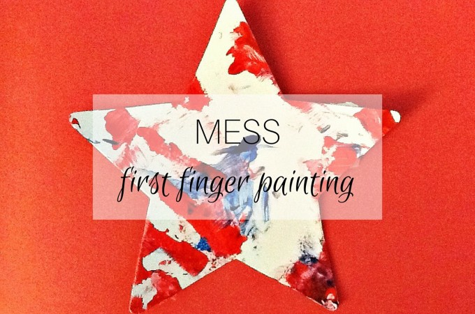Mess: first finger painting
