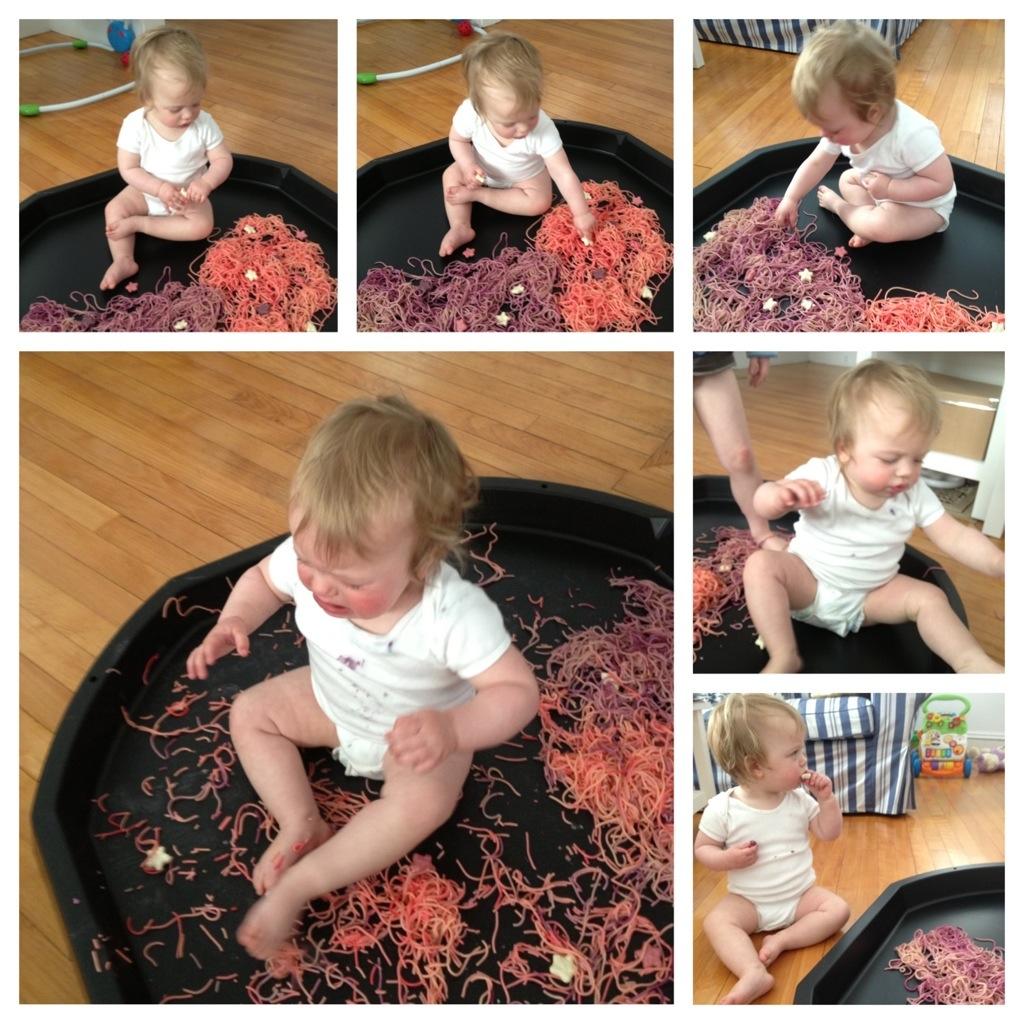 Colored Spaghetti in the Tuff Spot 3