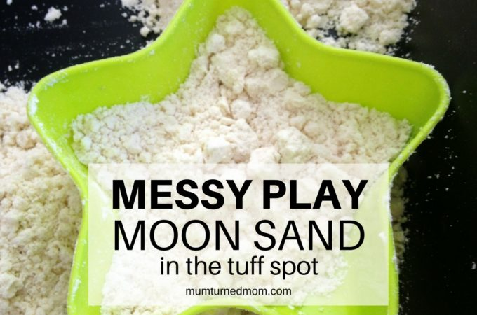 Mess: moon sand in the tuff spot