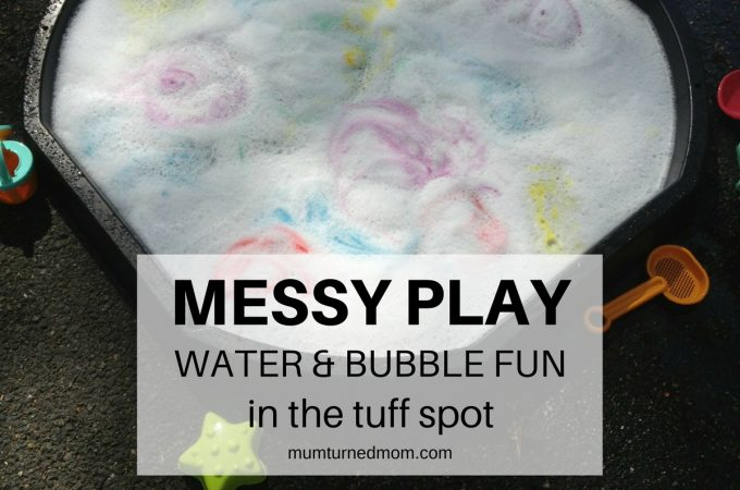 Mess: water and bubble fun in the tuff spot