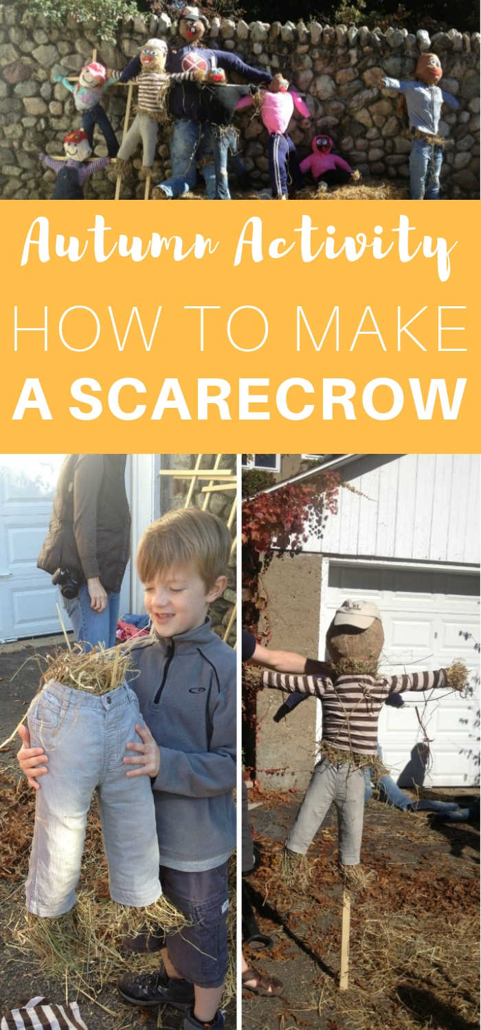 Autumn Activity - How to Make a Scarecrow - Step by step instructions to make your own scarecrow