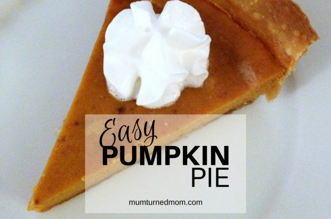 Bake: easy pumpkin pie