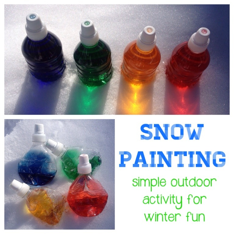 Mess: snow painting