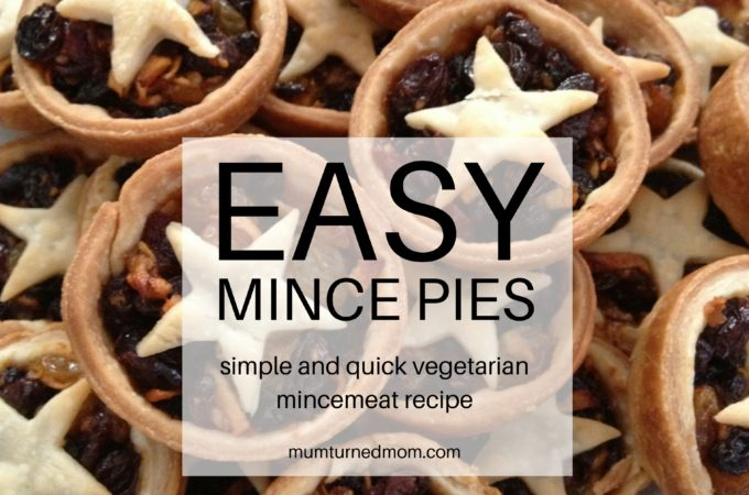 Easy Mince Pies: simple and quick vegetarian mincemeat recipe