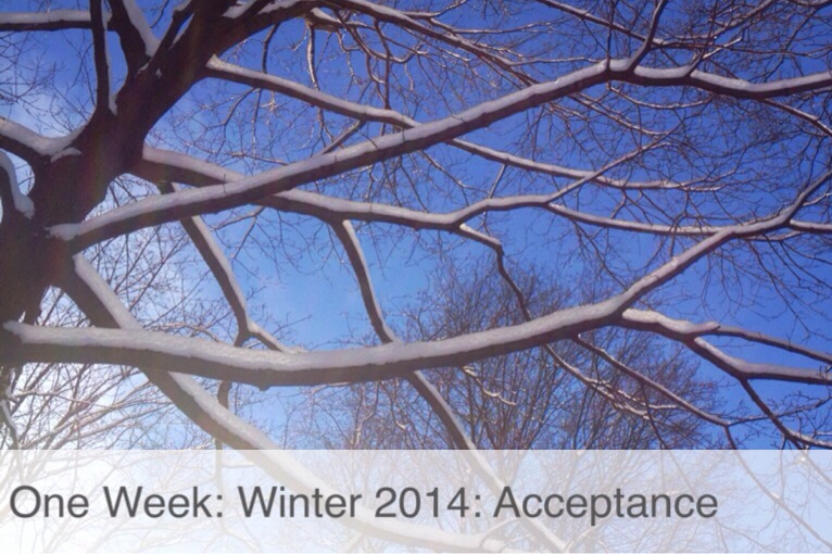 One Week: Winter 2014: Acceptance