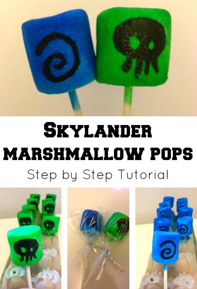 Skylander Marshmallow Pops Tutorial