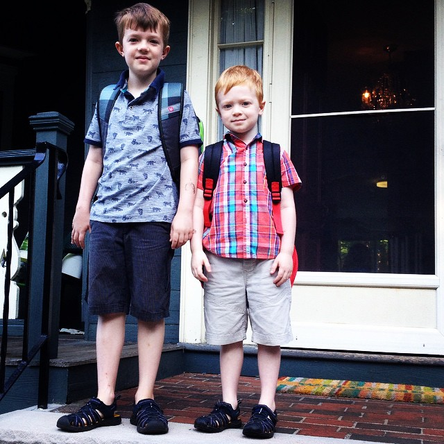 Ready for their first day back at school :)