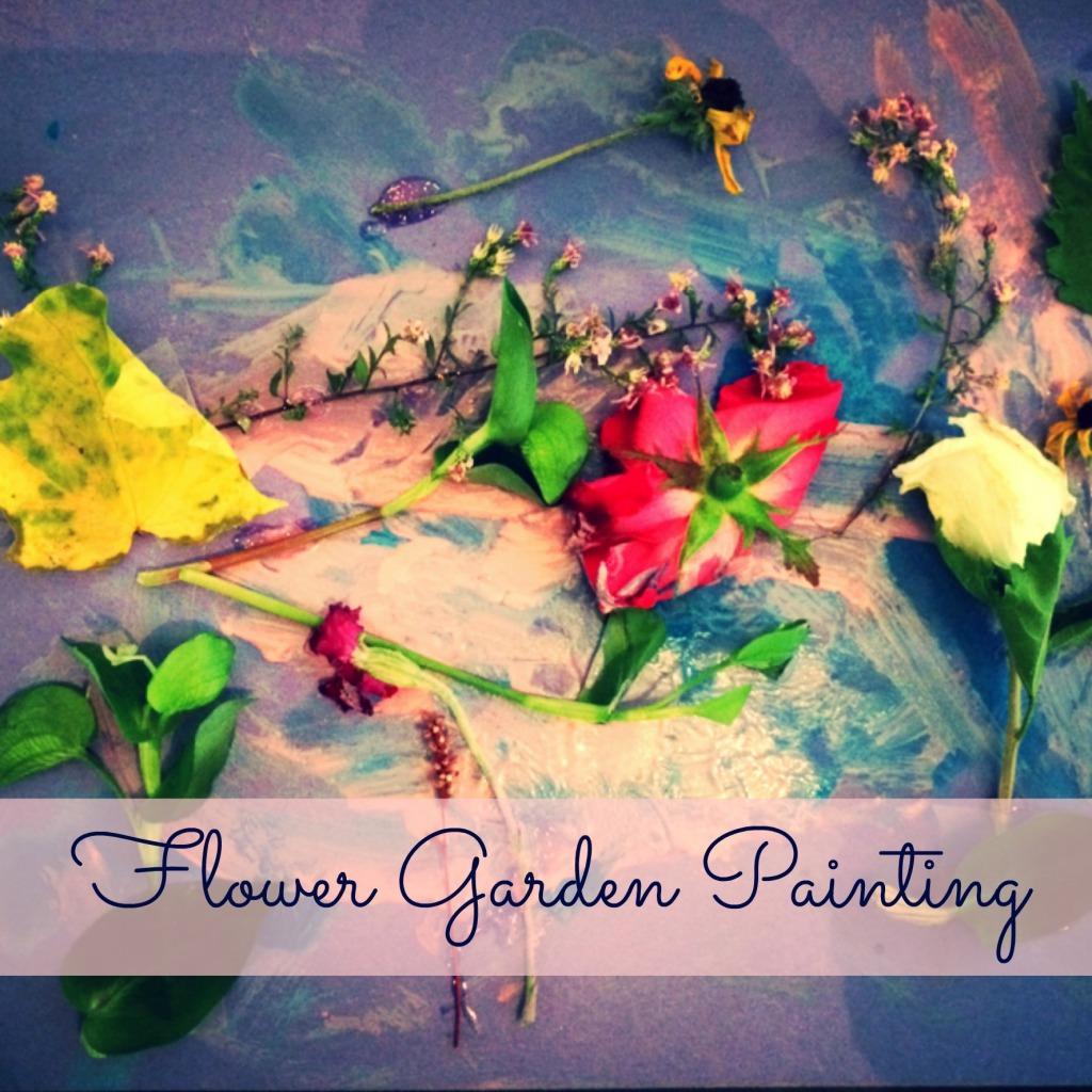 Make: flower garden painting