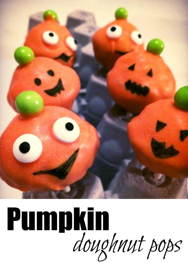 Pumpkin Doughnut Pops