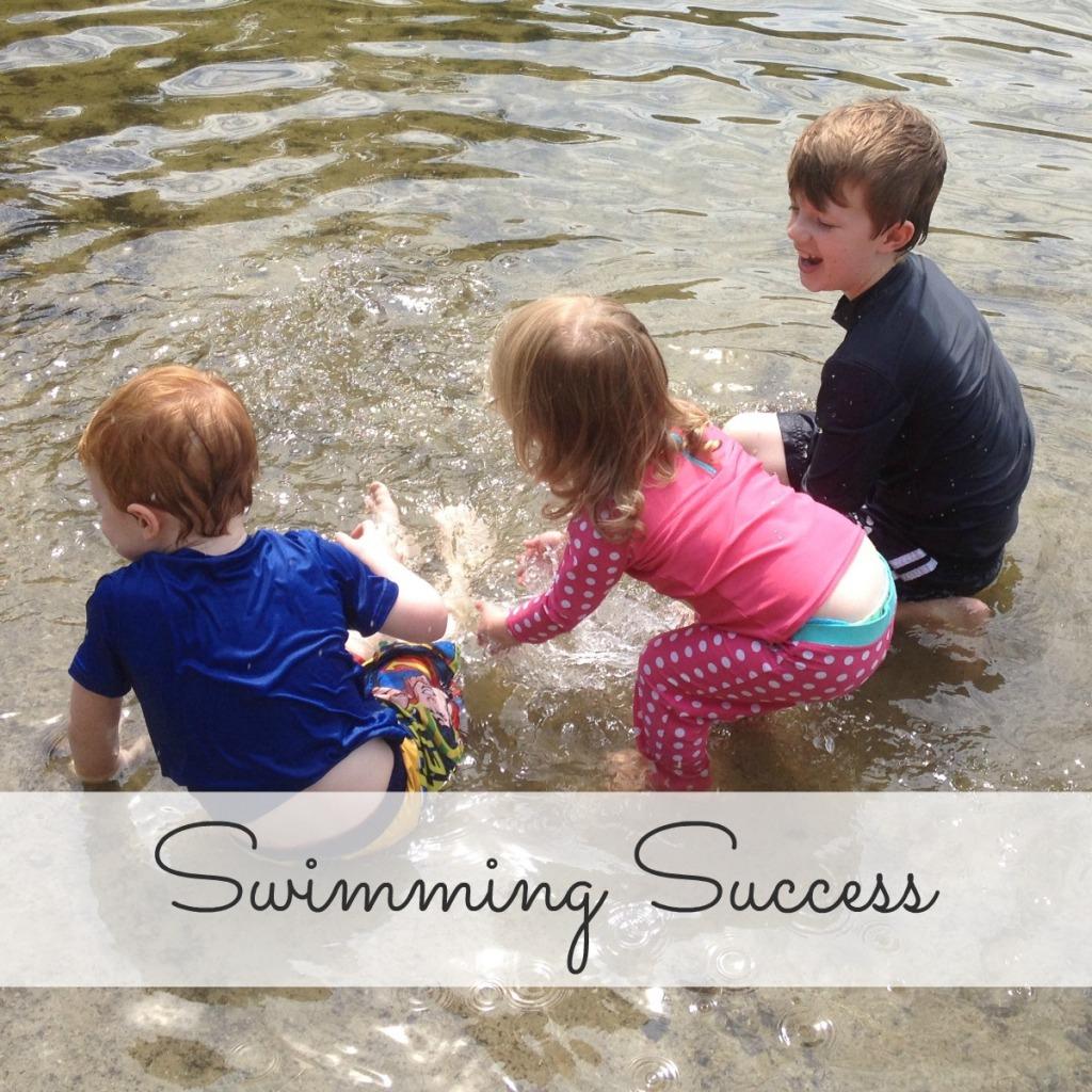 Celebrating swimming success
