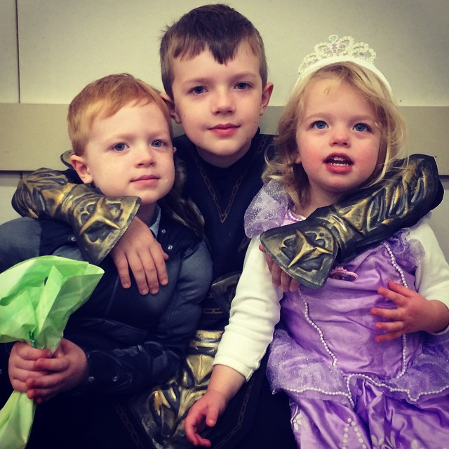 First Halloween party with two ninjas and a Princess 'Fia :)