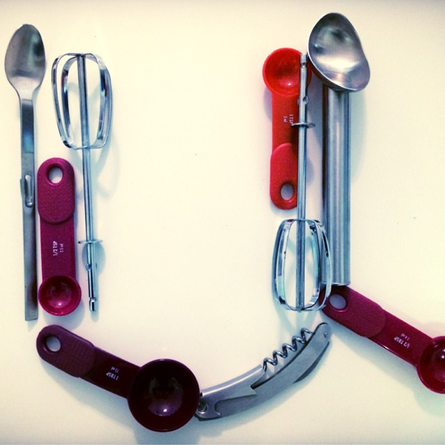 U is for... Uninspired! Or perhaps Utensils :) #alphabetphoto