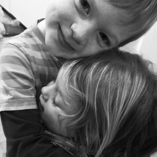 Brother and Sister: this moment made my heart melt.  #bwphotoproject
