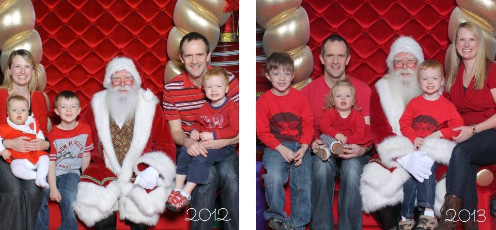 Santa 2012 and 2013
