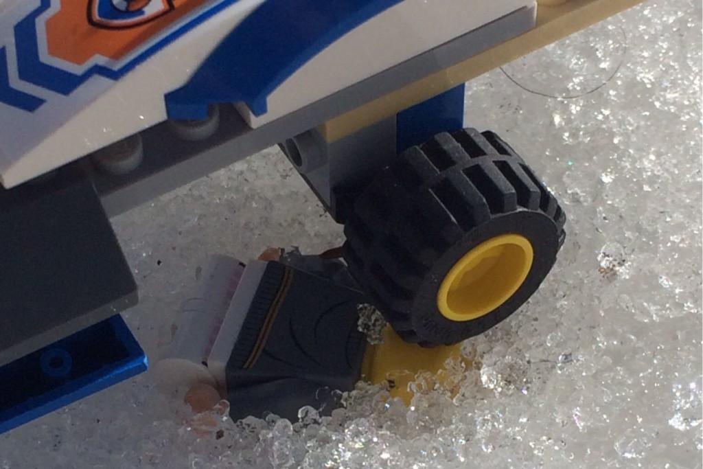 An unfortunate Lego man