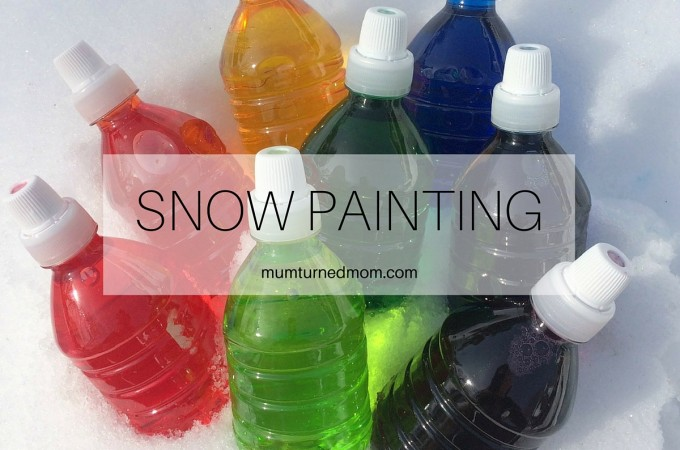 Snow Painting: just add a few drops of food colouring to a squeezy bottle of water for this super simple outdoor winter activity