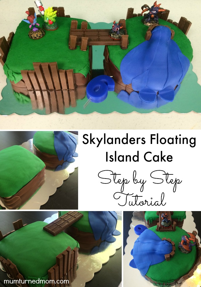 Skylander Floating Island Cake: step by step tutorial