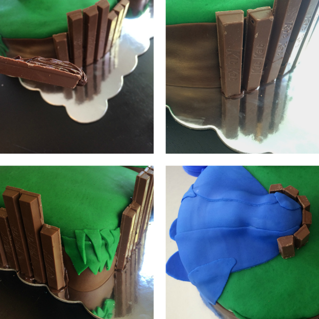 Skylanders Floating Island Cake: Tutorial Stage 5