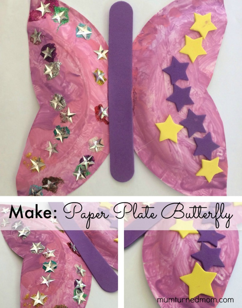 Make: paper plate butterfly