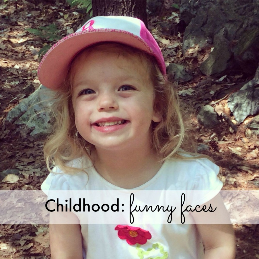 Childhood: funny faces
