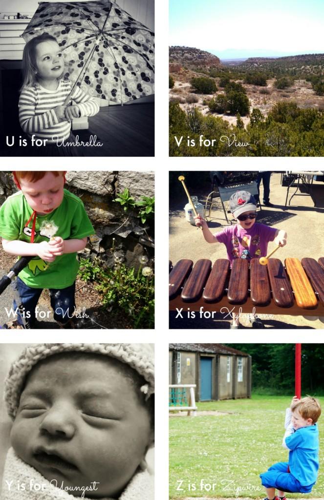 Alphabet Photo Project U-Z