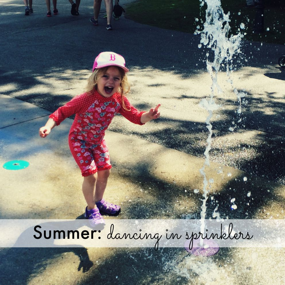 Summer: dancing in sprinklers