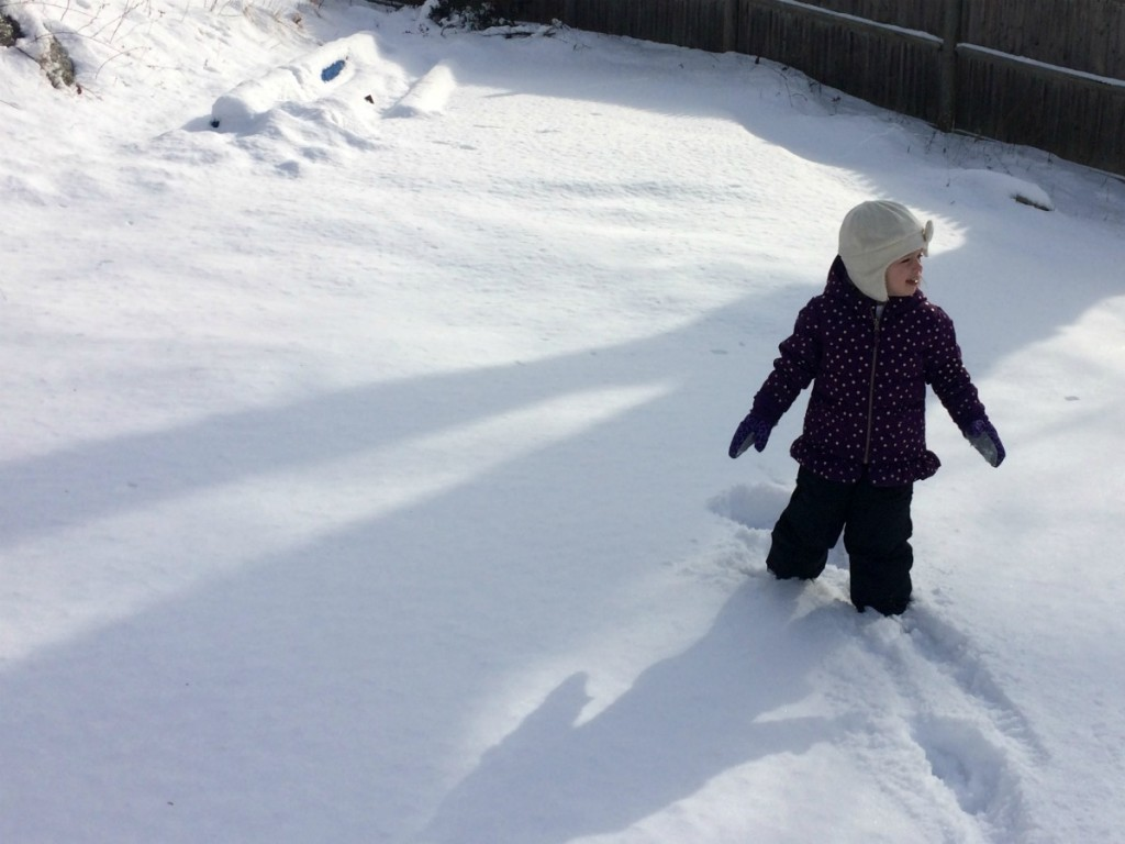 Playing in the snow 3