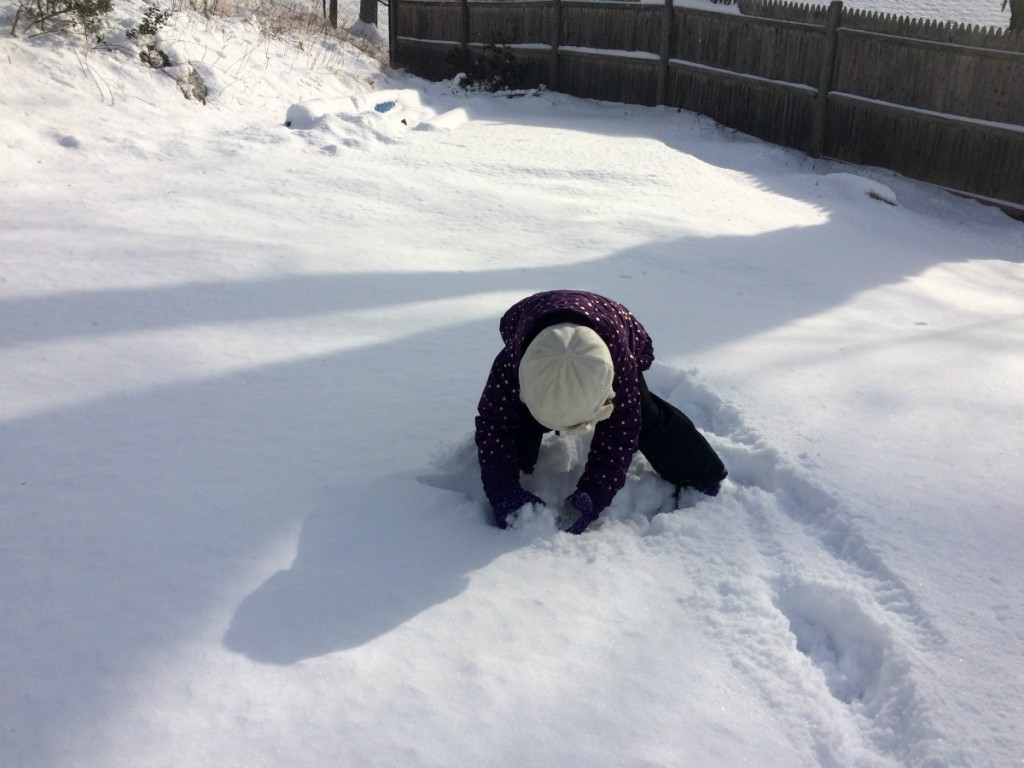 Playing in the snow 4