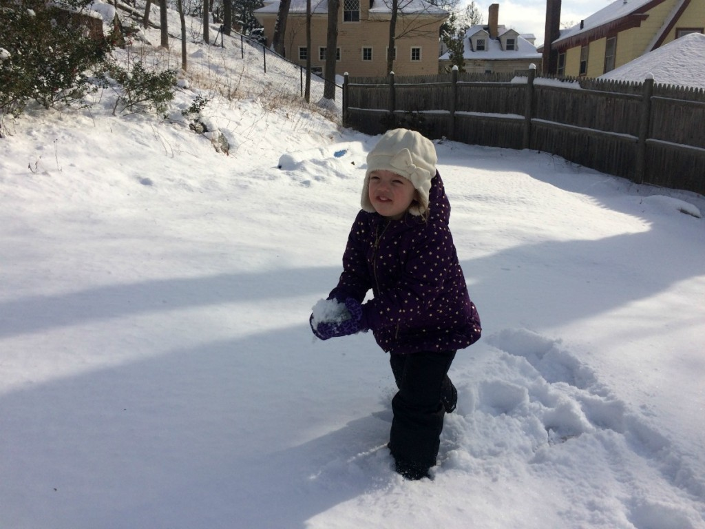 Playing in the snow 5
