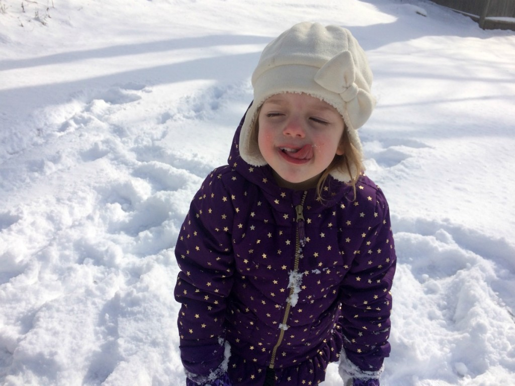 Playing in the snow 8