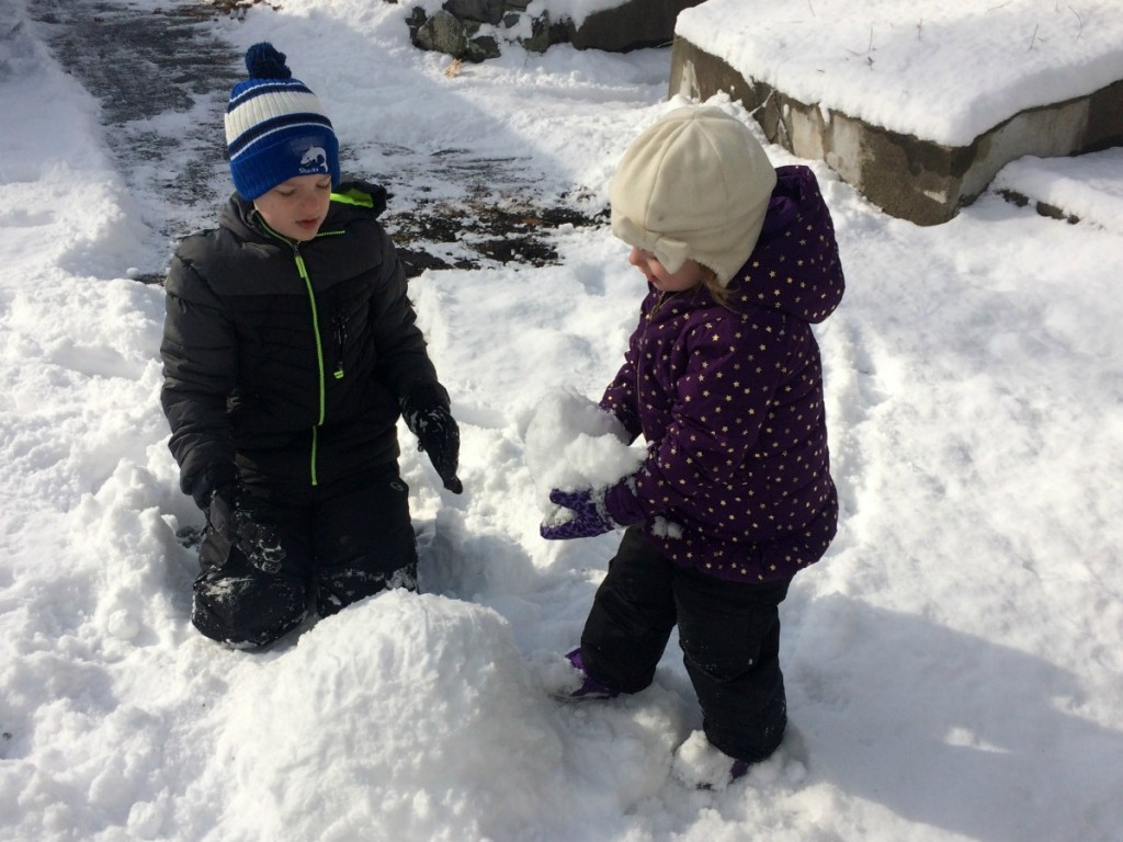 Playing in the snow 9