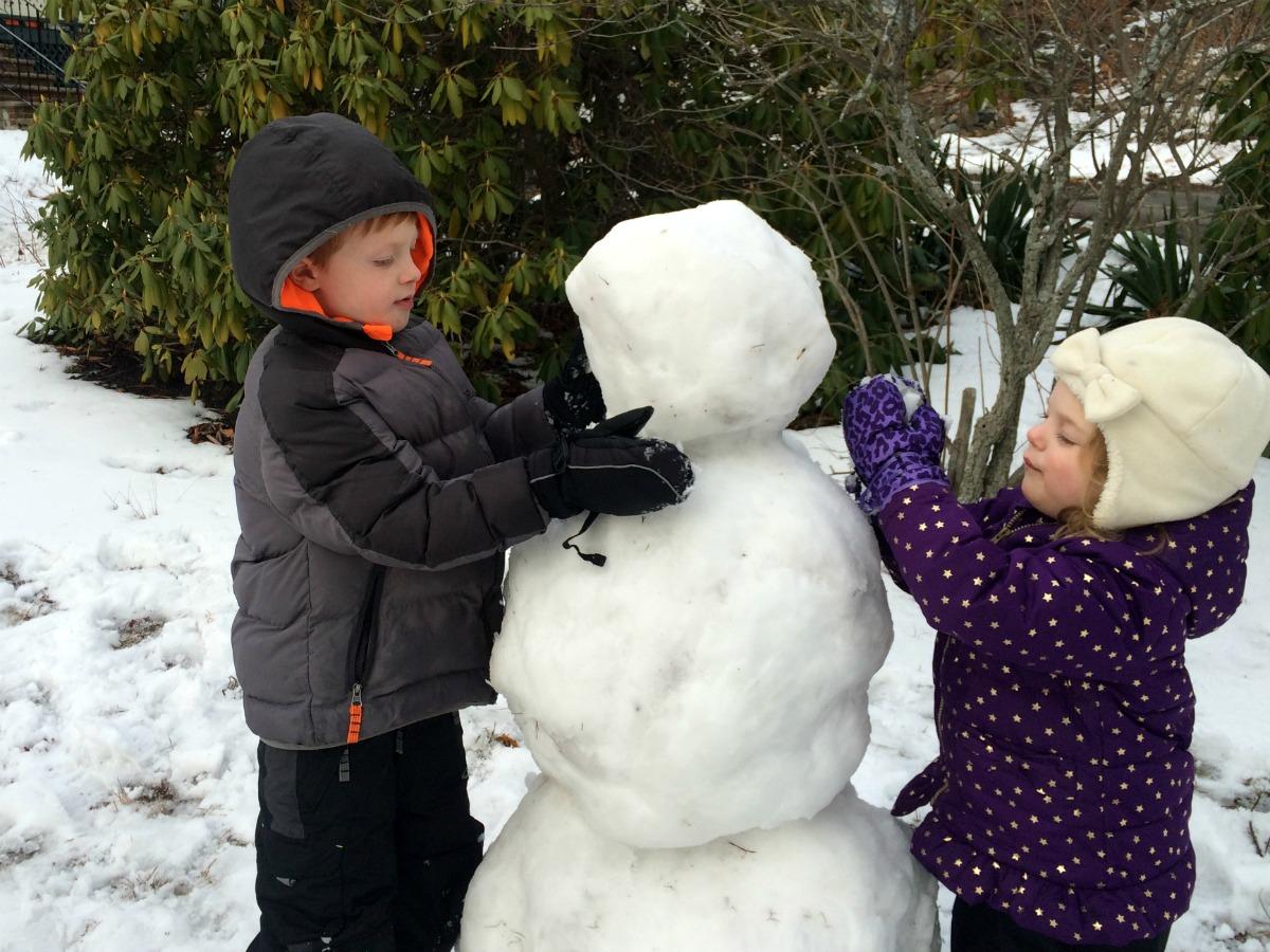 A snowman at last 10