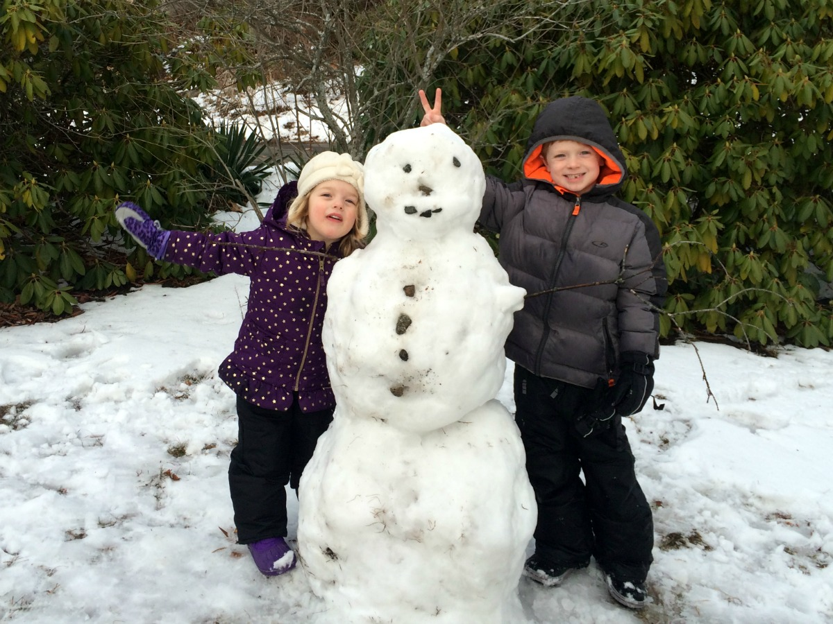 A snowman at last 13