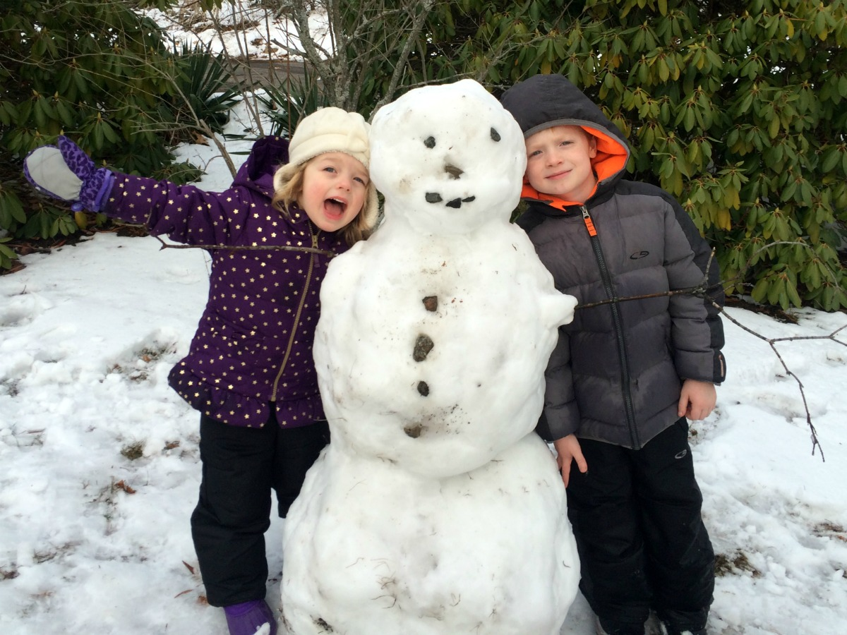 A snowman at last 14
