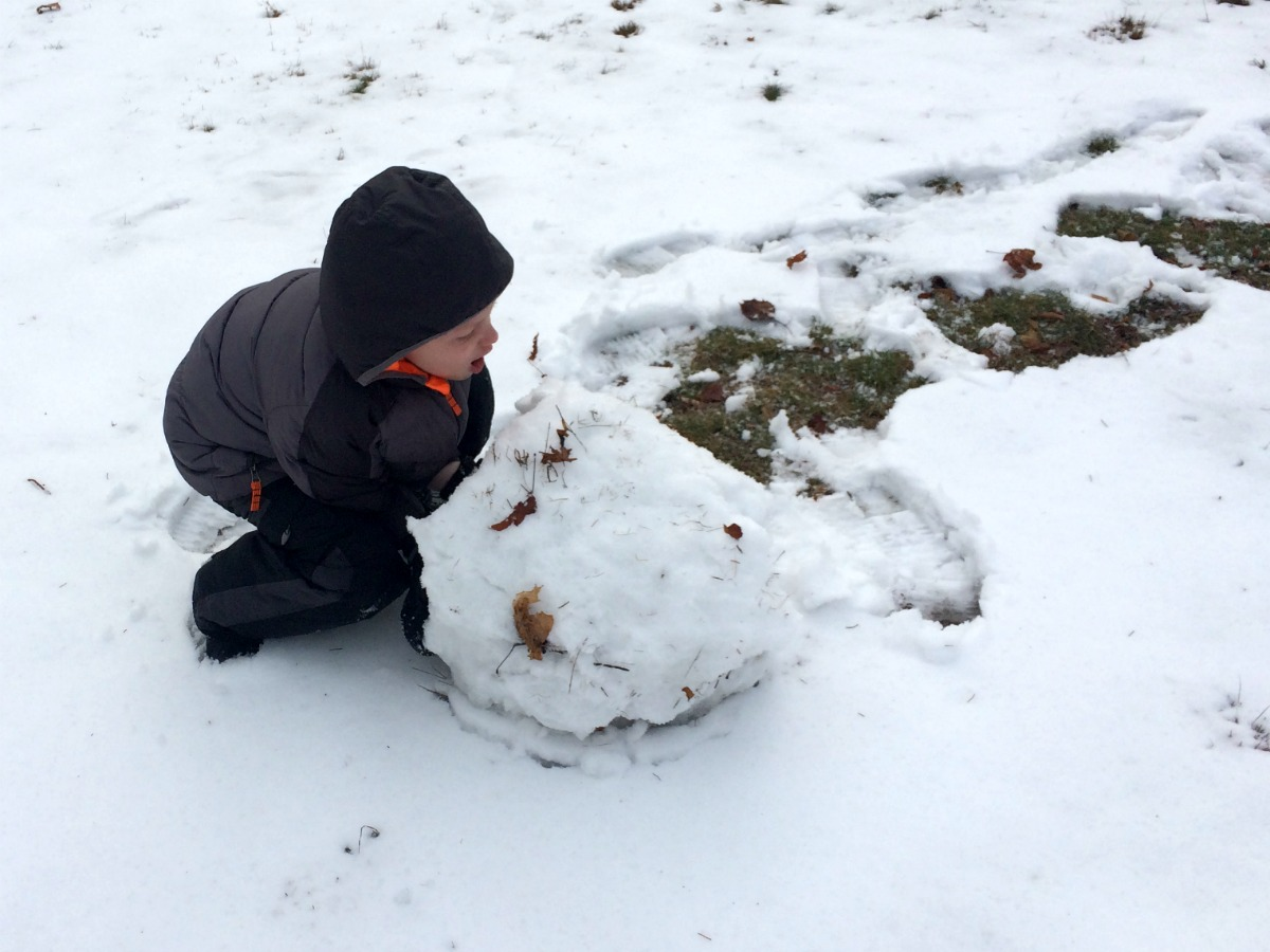 A snowman at last 3