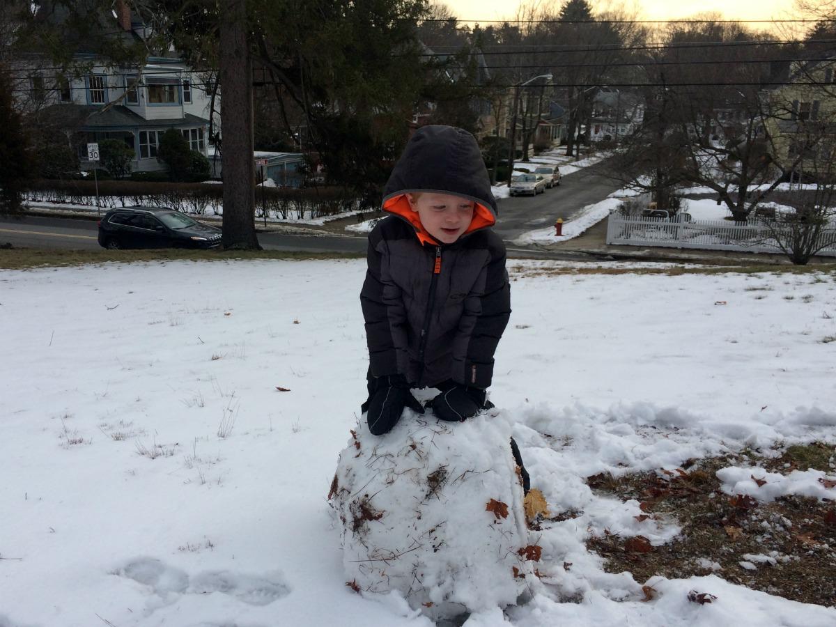 A snowman at last 6