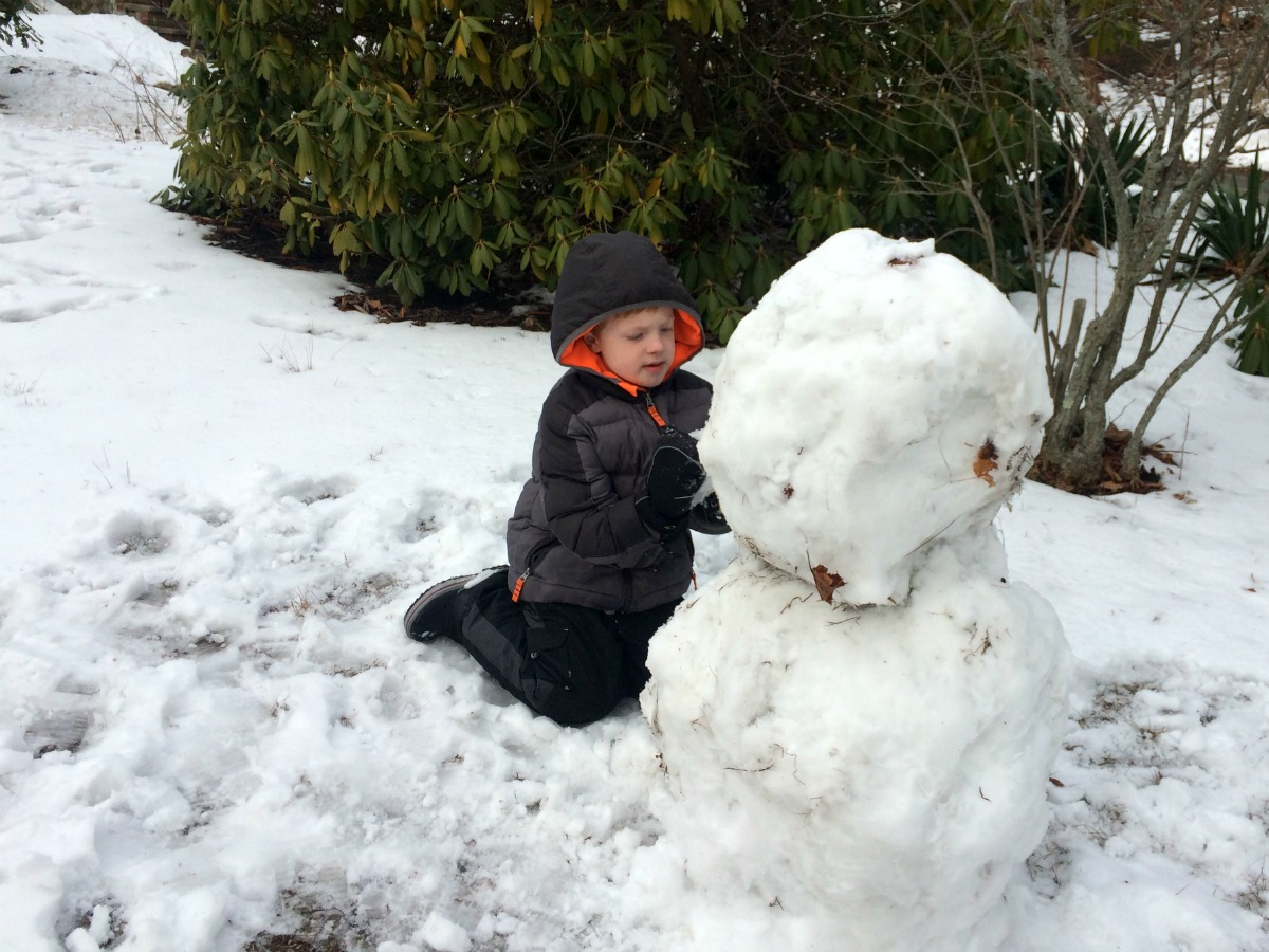 A snowman at last 8
