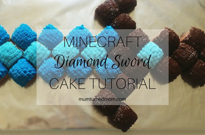 Bake: Minecraft Diamond Sword Cake