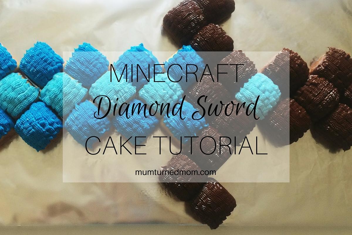 Minecraft Diamond Sword Cake Tutorial | mumturnedmom