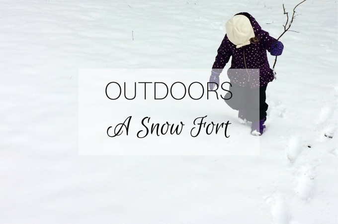 Outdoors: a snow fort