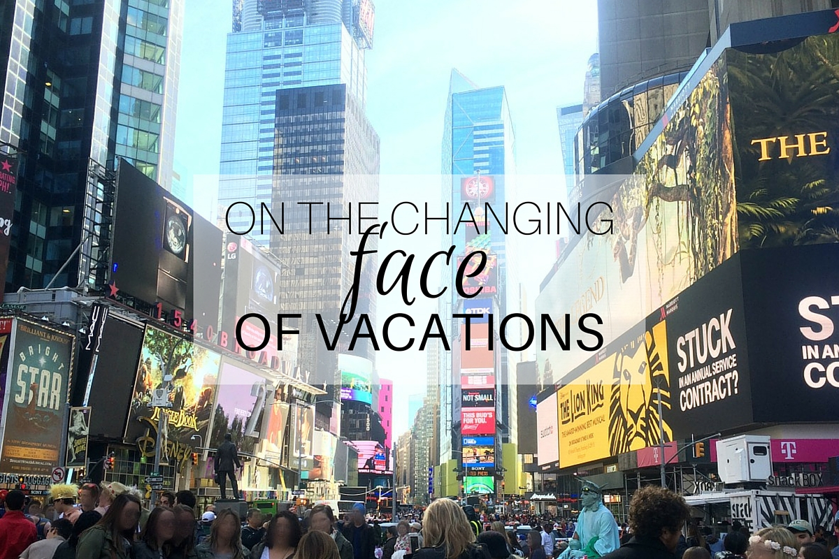 On the changing face of vacations