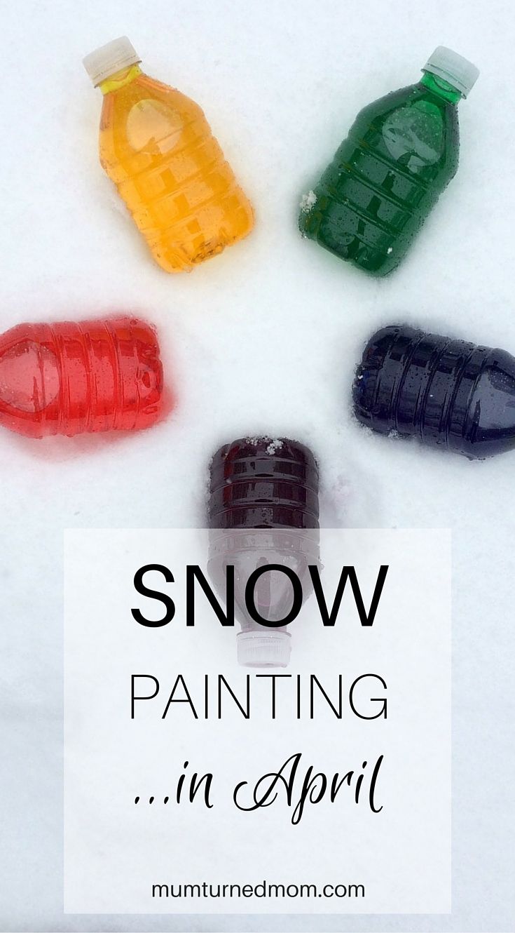Snow Painting: a quick and easy activity for lots of fun in the snow. All you need is water and food colouring.