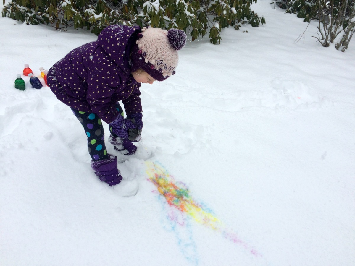 Snow Painting April 3