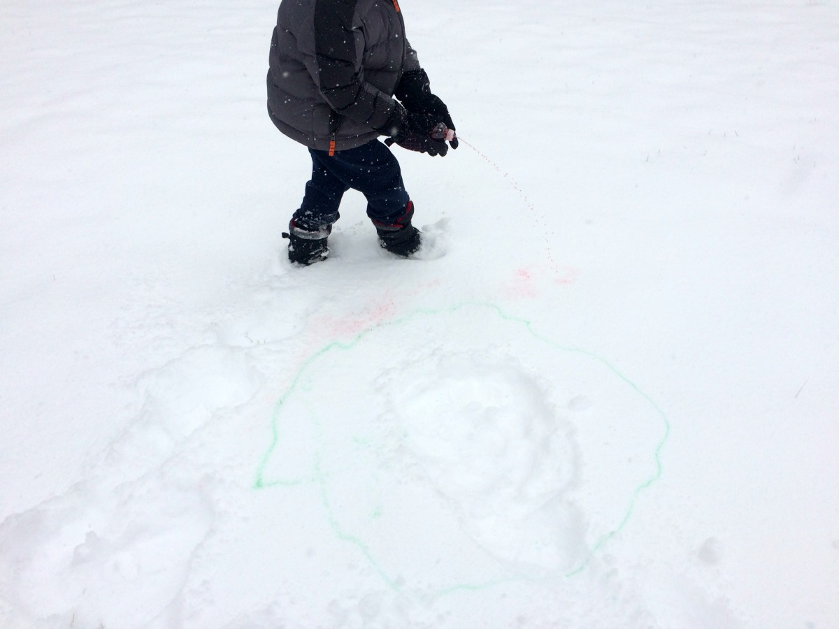 Snow Painting April 7