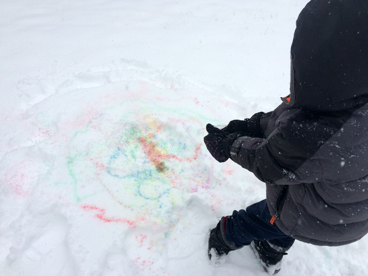 Snow Painting April 9
