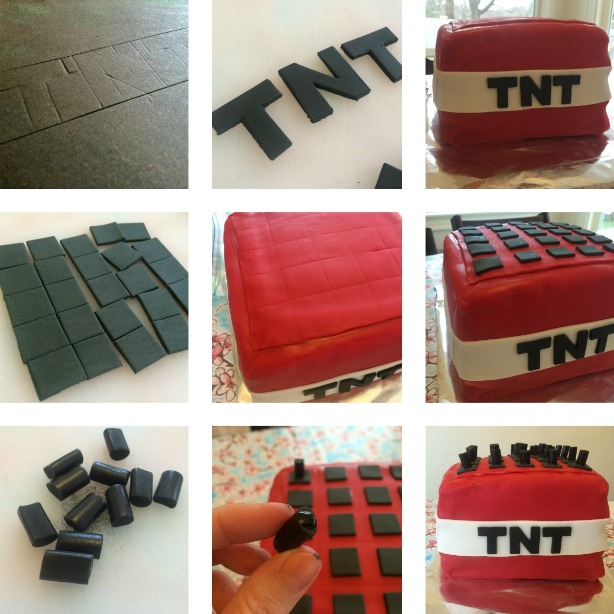 Minecraft TNT Cake Tutorial 5