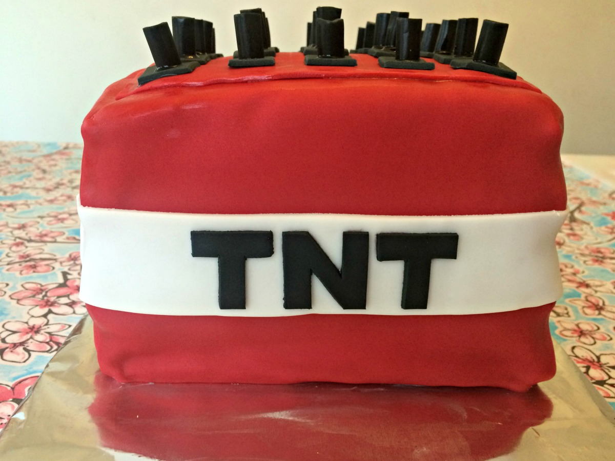 Minecraft TNT Cake Tutorial 9