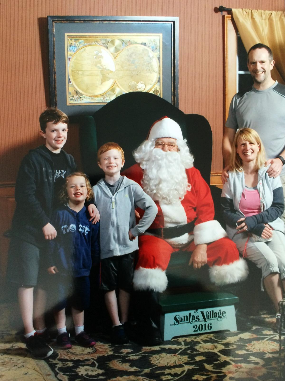 Our Family at Santas Village